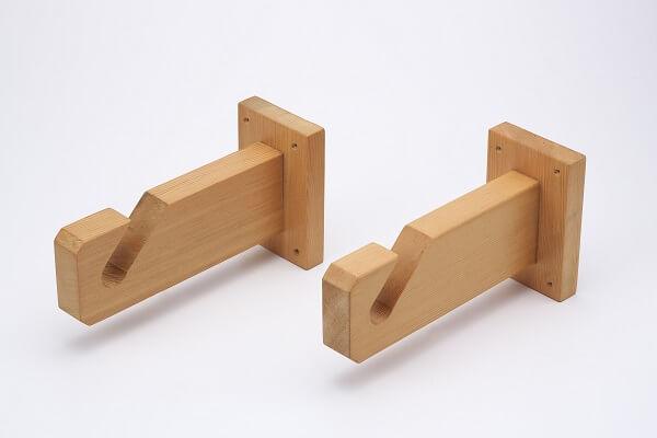 木製のれん掛け