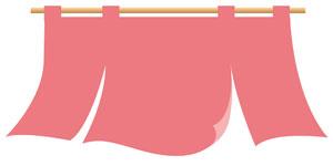 ピンクのれんイラスト