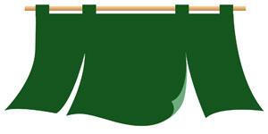 緑のれんイラスト