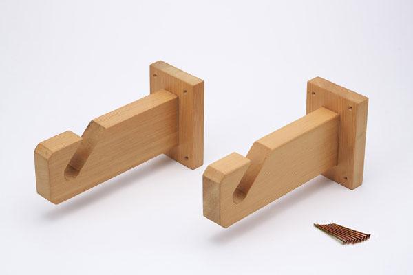木製のれん掛け壁付けタイプ